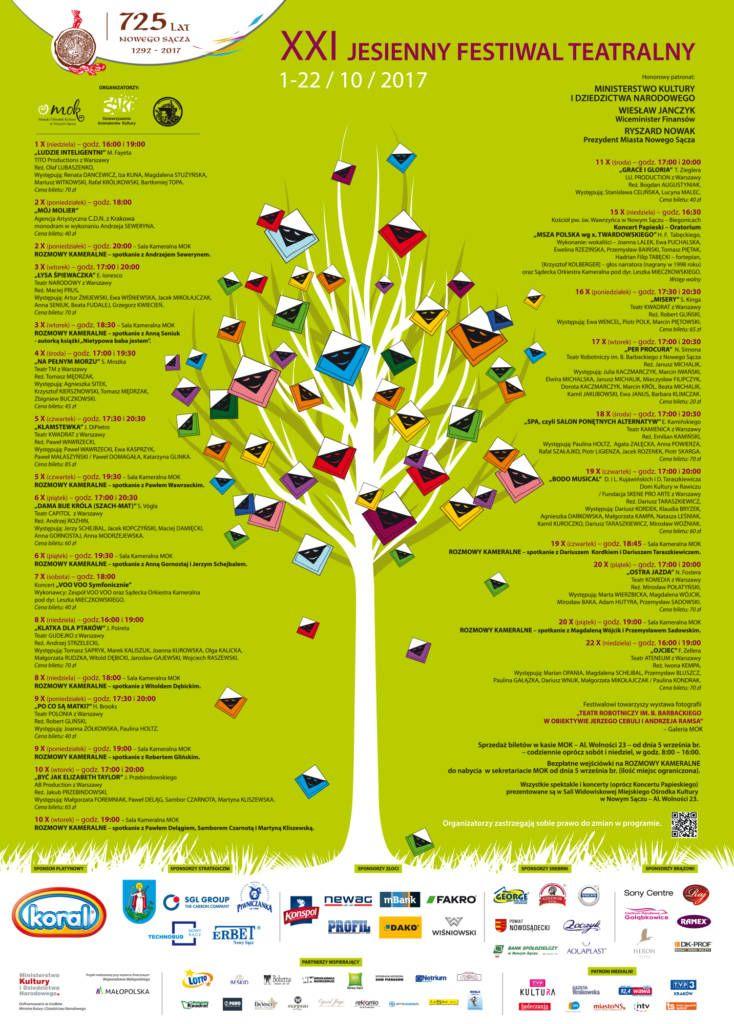 XXI Jesienny Festiwal Teatralny Nowy Sącz