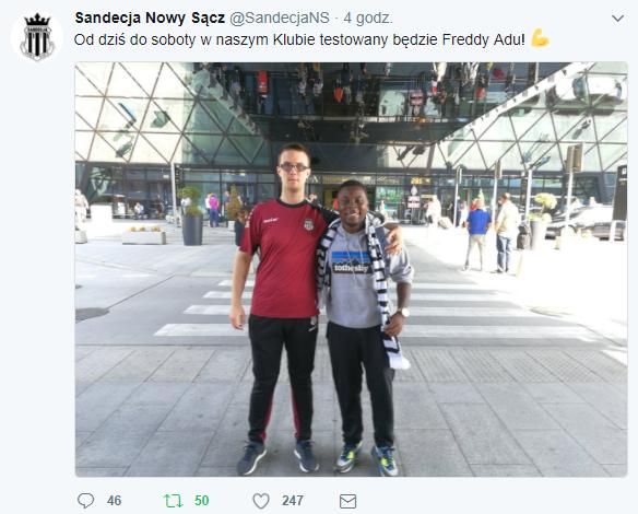 Freddy Adu Sandecja Nowy Sącz testy