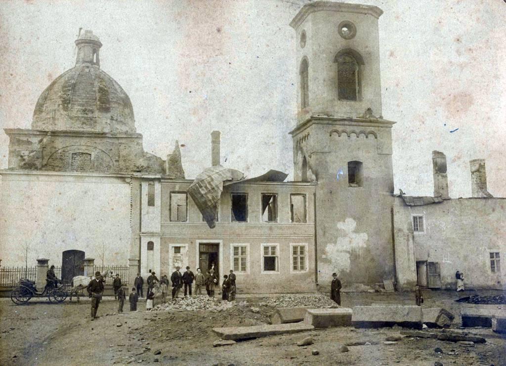 Zniszczona Kaplica Przemienienia Pańskiego w Nowym Sączu 1894