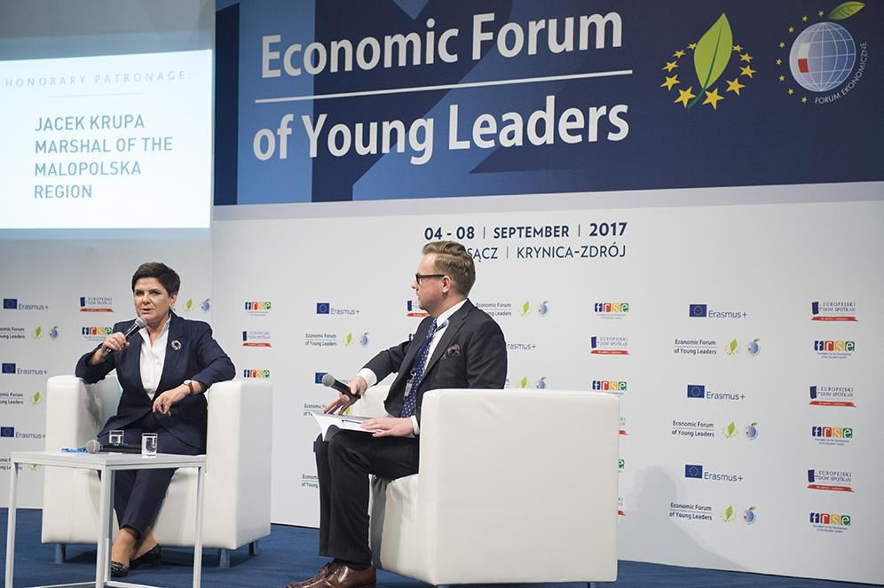 Beata Szydło Forum Ekonomiczne Młodych Liderów 2017 Nowy Sącz