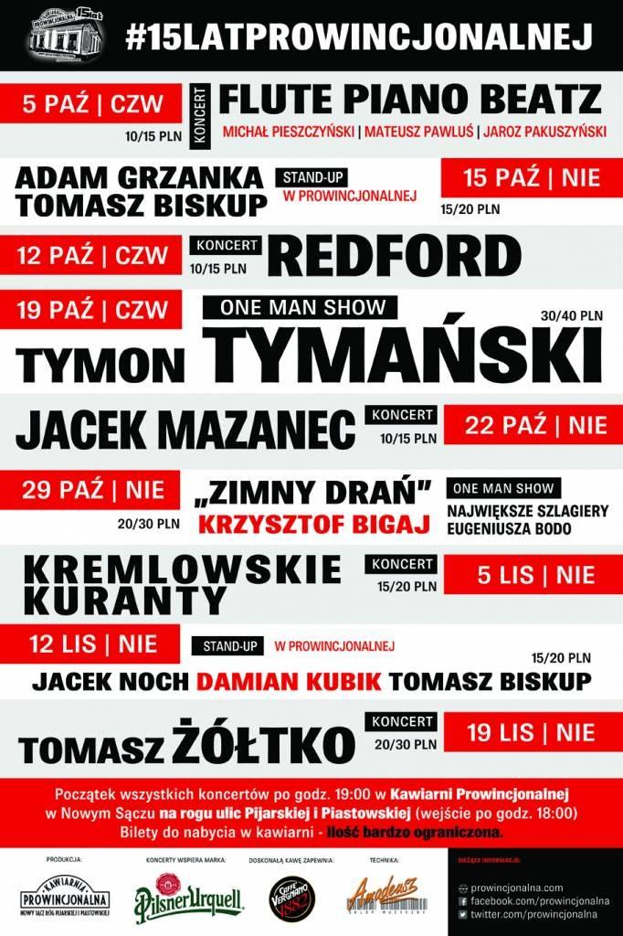 Kawiarnia Prowincjonalna koncerty Nowy Sącz
