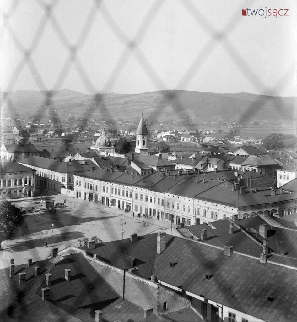 1941 Nowy Sącz widoczny mur getta