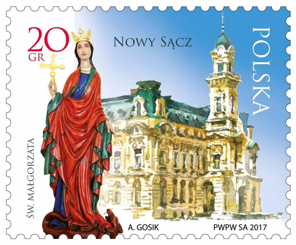 znaczek miasta polskie Nowy Sacz