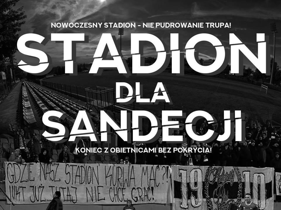 demonstracja kibiców Sandecji
