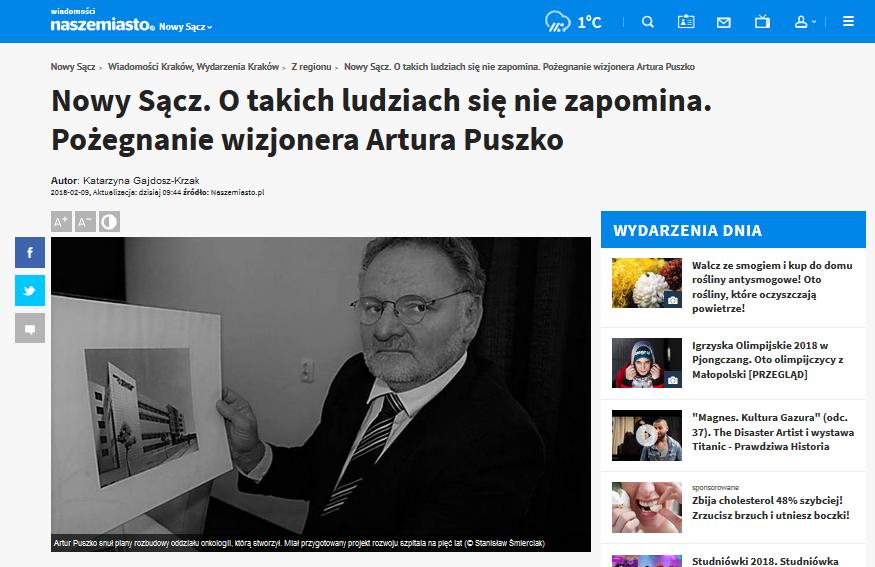 zmarł Artur Puszko