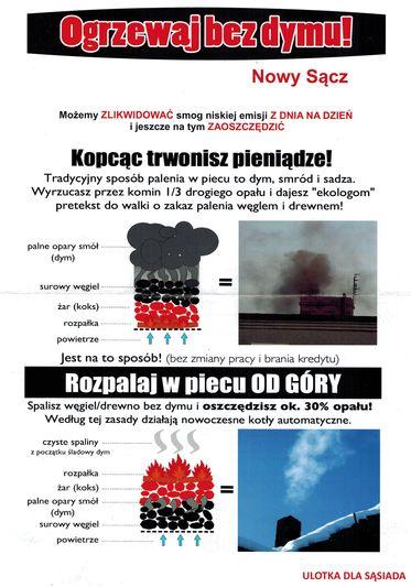 Ogrzewaj bez dymu – Nowy Sącz
