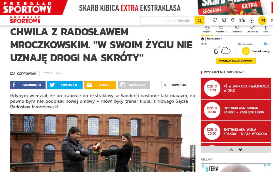 Radosław Mroczkowski dla Przeglądu Sportowego