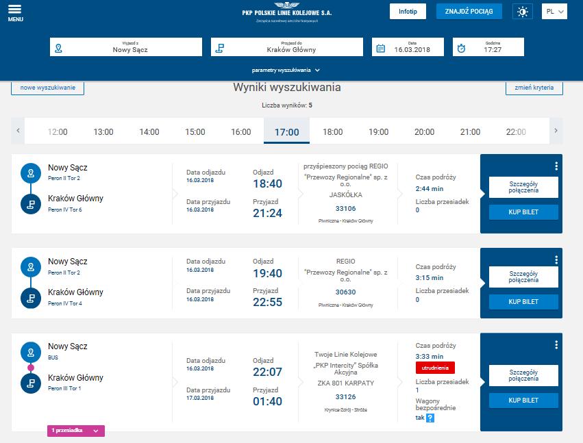 Nowa Wersja Wyszukiwarki Połączeń Kolejowych Portal Pasażera