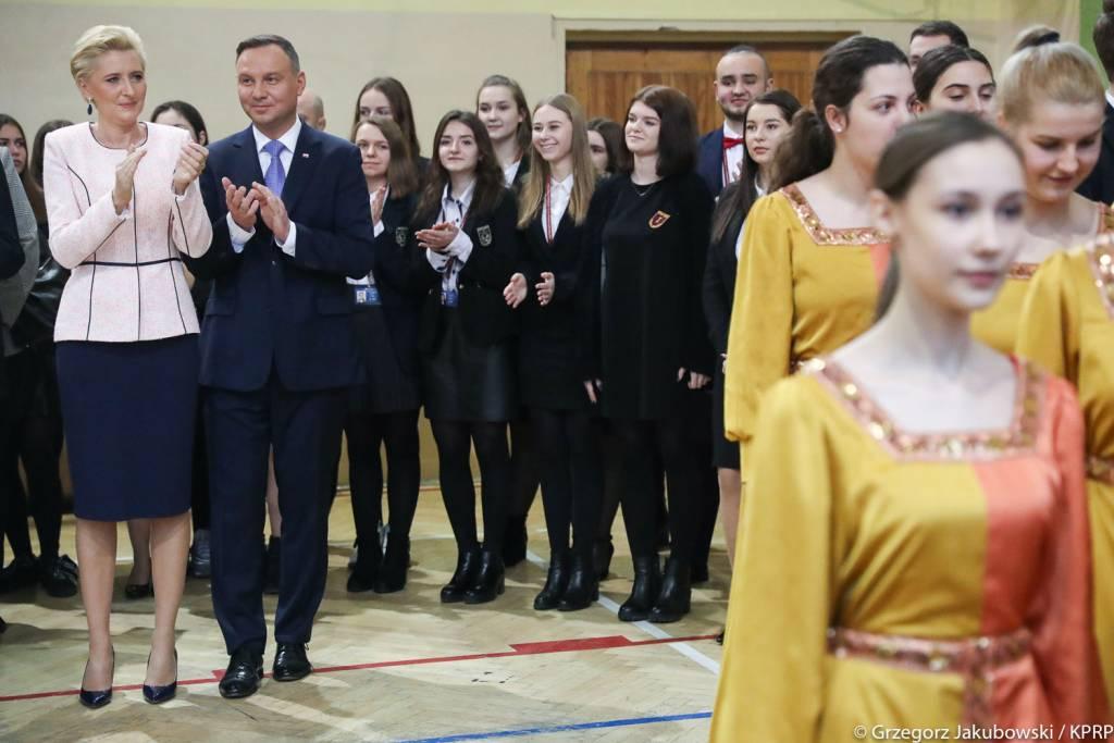 Prezydent RP Andrzej Duda w I Liceum Ogólnokształcącym