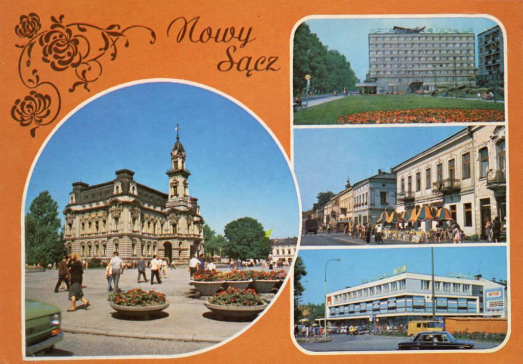 pocztówki PRL Nowy Sącz