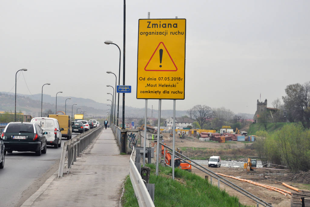 most heleński Nowy Sącz zamknięty o 7 maja 2018
