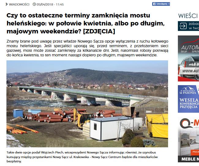 terminy zamknięcia mostu