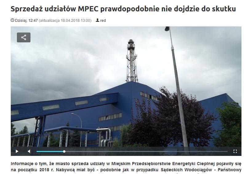 sprzedaż udziałów MPEC