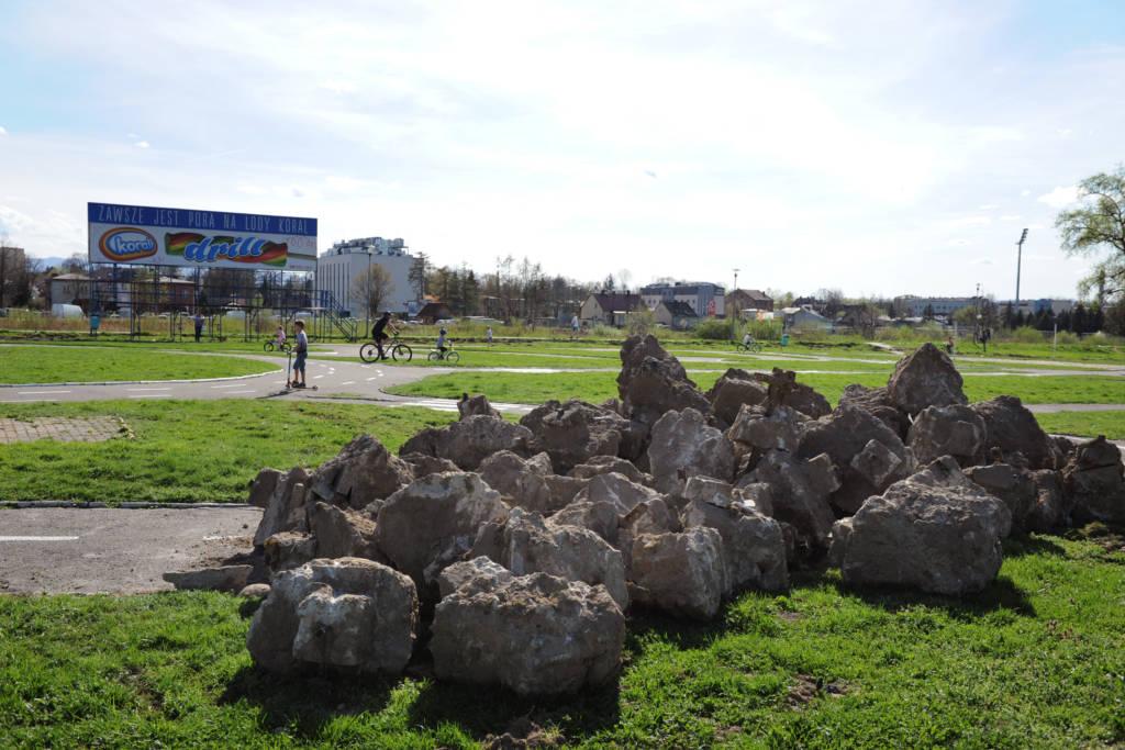 Koniec Miasteczka Rowerowego przy ul. Nadbrzeżnej