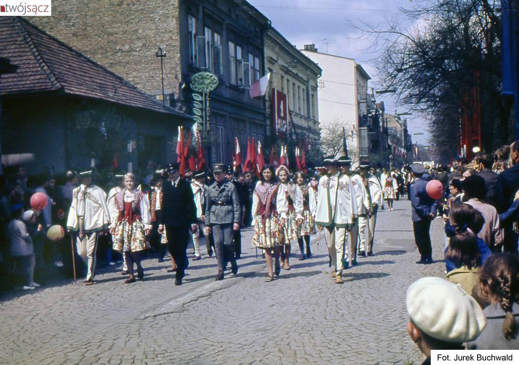 pochody 1-majowe - 1971 Nowy Sącz