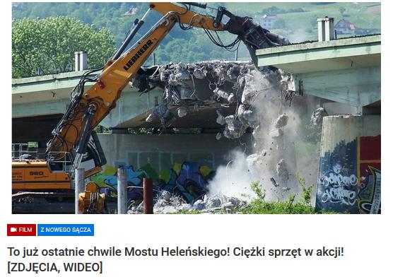 rozbiórka mostu heleńskiego