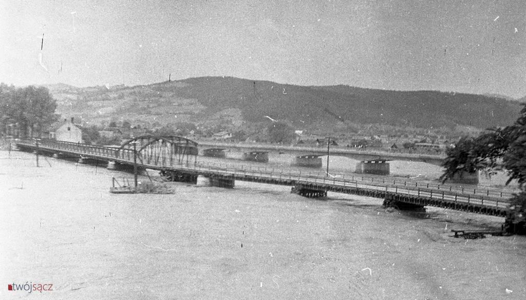 powódź 1958 Dunajec w Nowym Sączu