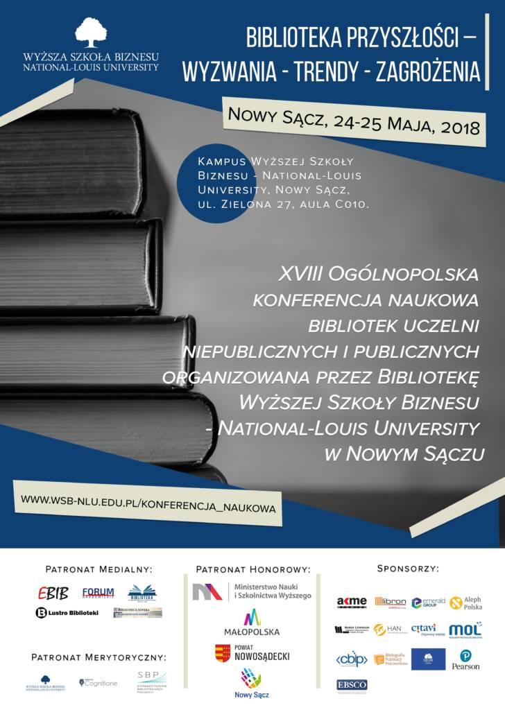 XVIII Ogólnopolska konferencja naukowa bibliotek uczelni niepublicznych i publicznych
