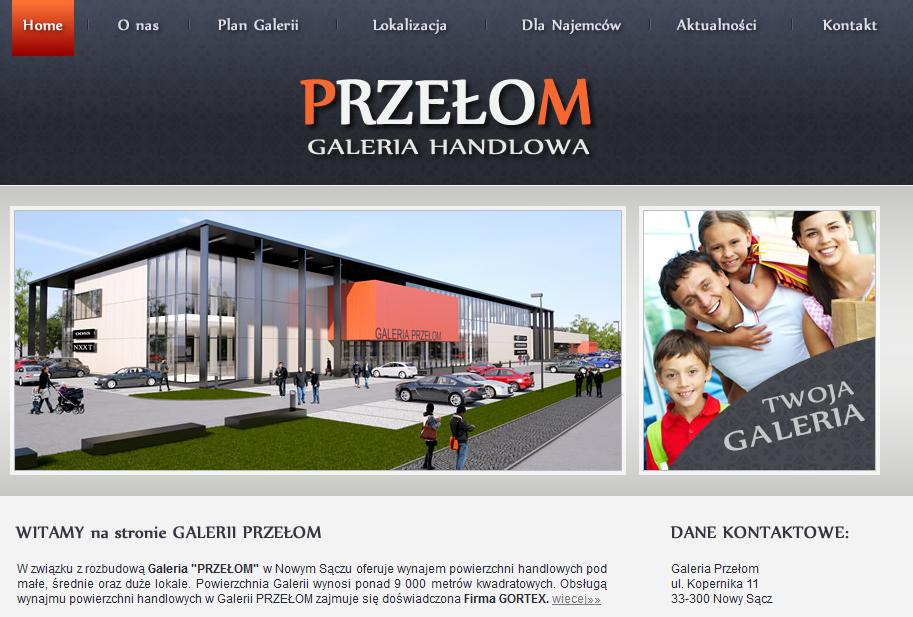 Galeria Przełom - wizualizacja 2013
