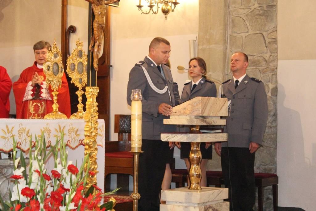 nabożeństwo z okazji 99. rocznicy powstania Policji Nowy Sącz