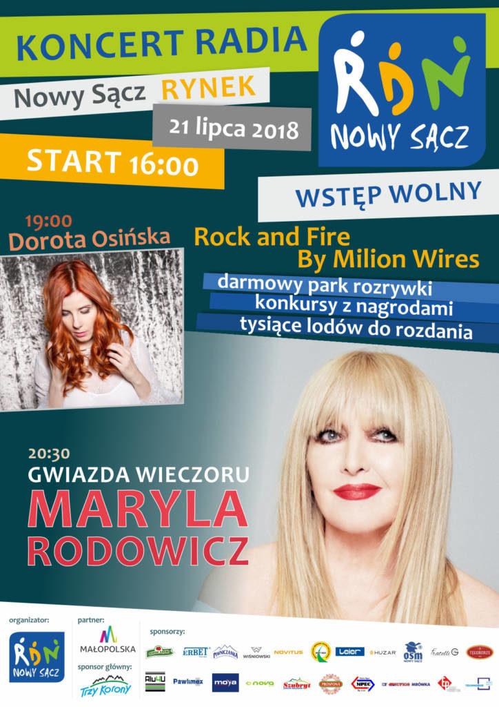 Maryla Rodowicz koncert RDN Nowy Sącz
