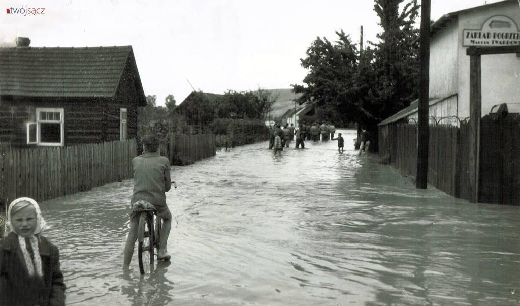 Nowy Sącz powódź 1958
