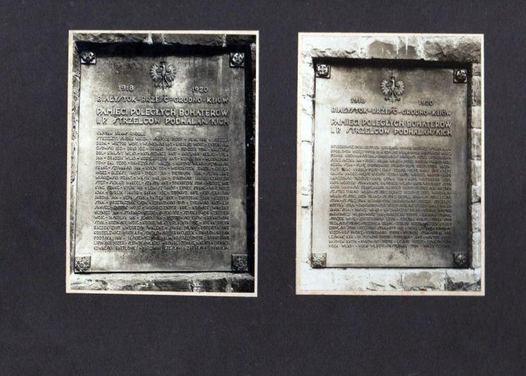 Odtworzone tablice z nazwiskami 194 poległych żołnierzy 1 PSP zostaną wmurowane w Basztę Kowalską