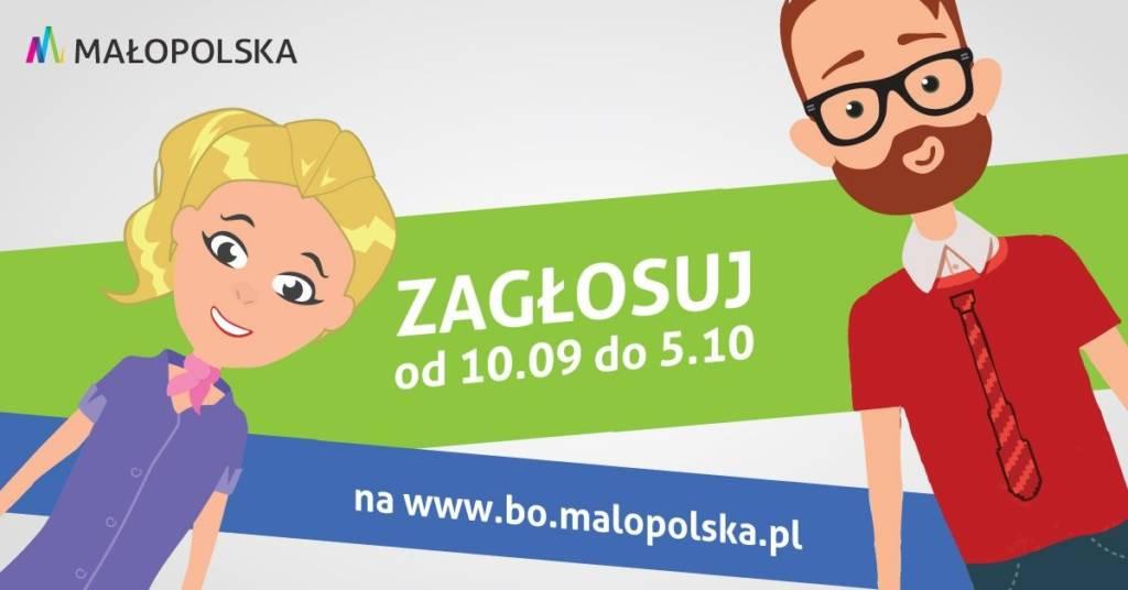 Do 5 października potrwa głosowanie w 3. edycji Budżetu Obywatelskiego Województwa Małopolskiego