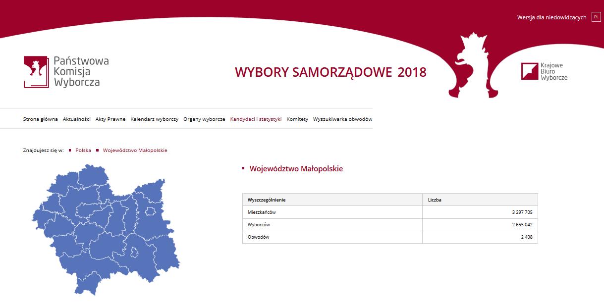 sejmik okręg Nowy Sącz nr 6 Małopolska