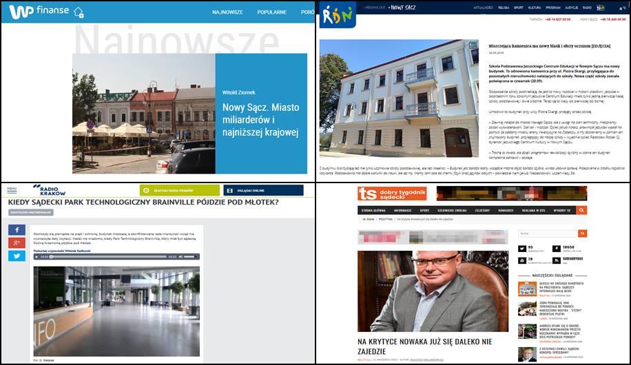 WP Nowy Sacz miasto miliarderów i najniższej krajowej