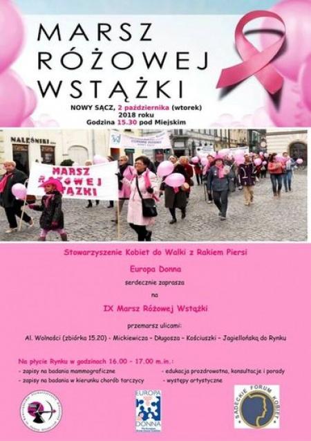 marsz różowej wstążki 2018