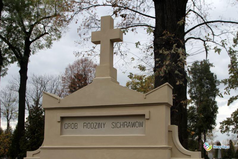 Roman Sichrawa grobowiec na cmentarzu w Nowym Sączu