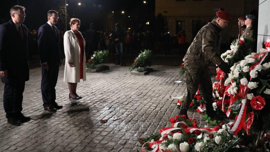 Prezes Rady Ministrów Mateusz Morawiecki przebywał w poniedziałek z krótką wizytą w Nowym Sączu