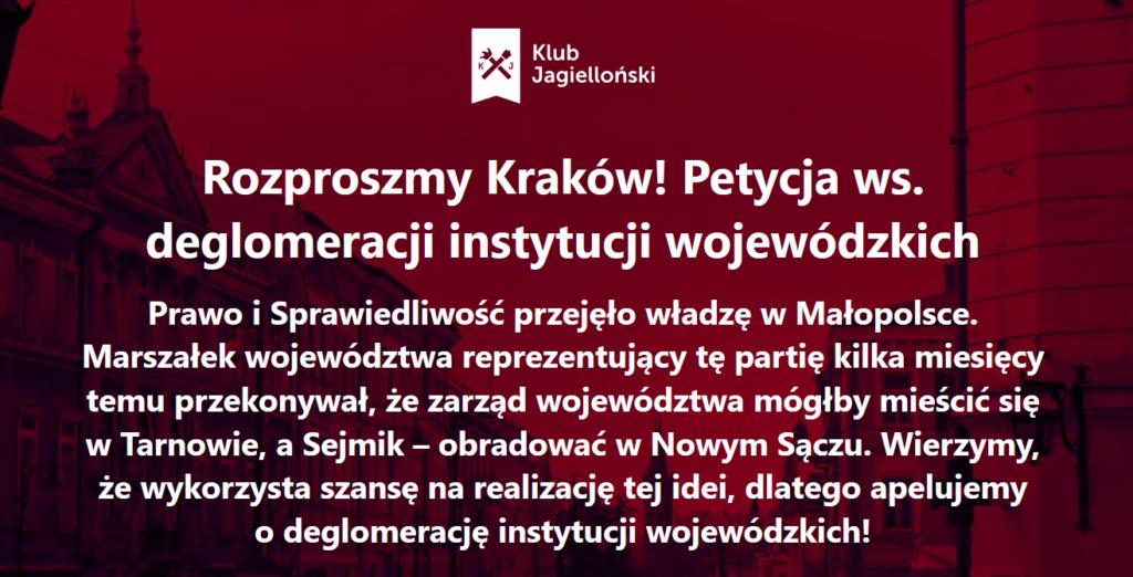 petycja Klubu Jagielońskiego