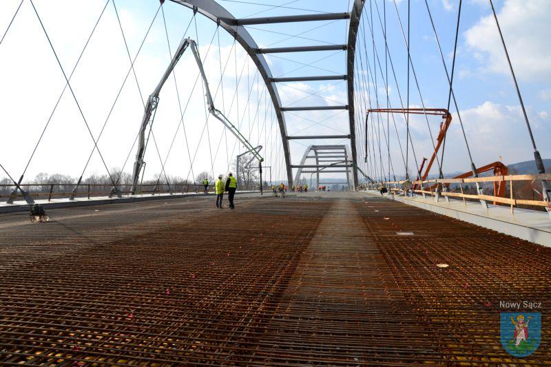 budowa mostu na Dunajcu w Nowym Sączu