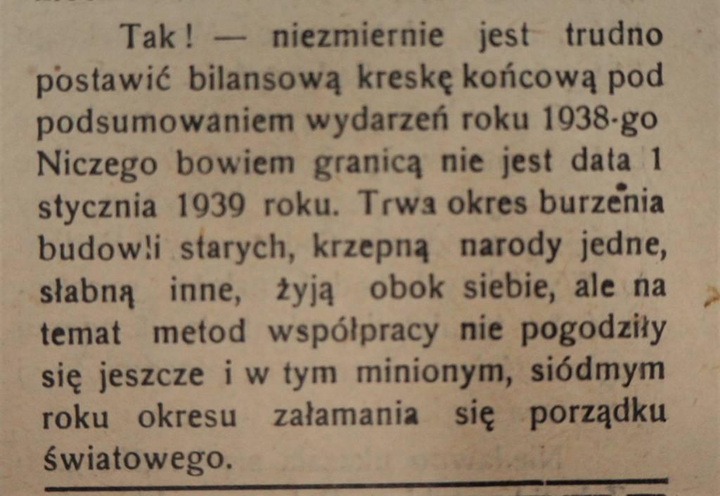 styczeń 1939 Nowy Sącz