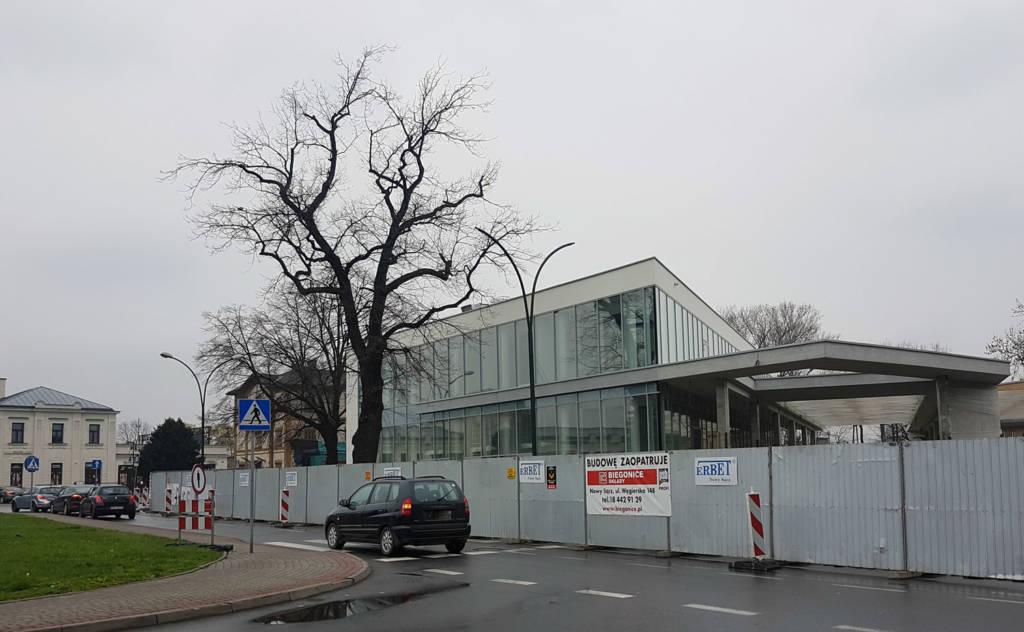budowa dworca MPK w Nowym Sączu