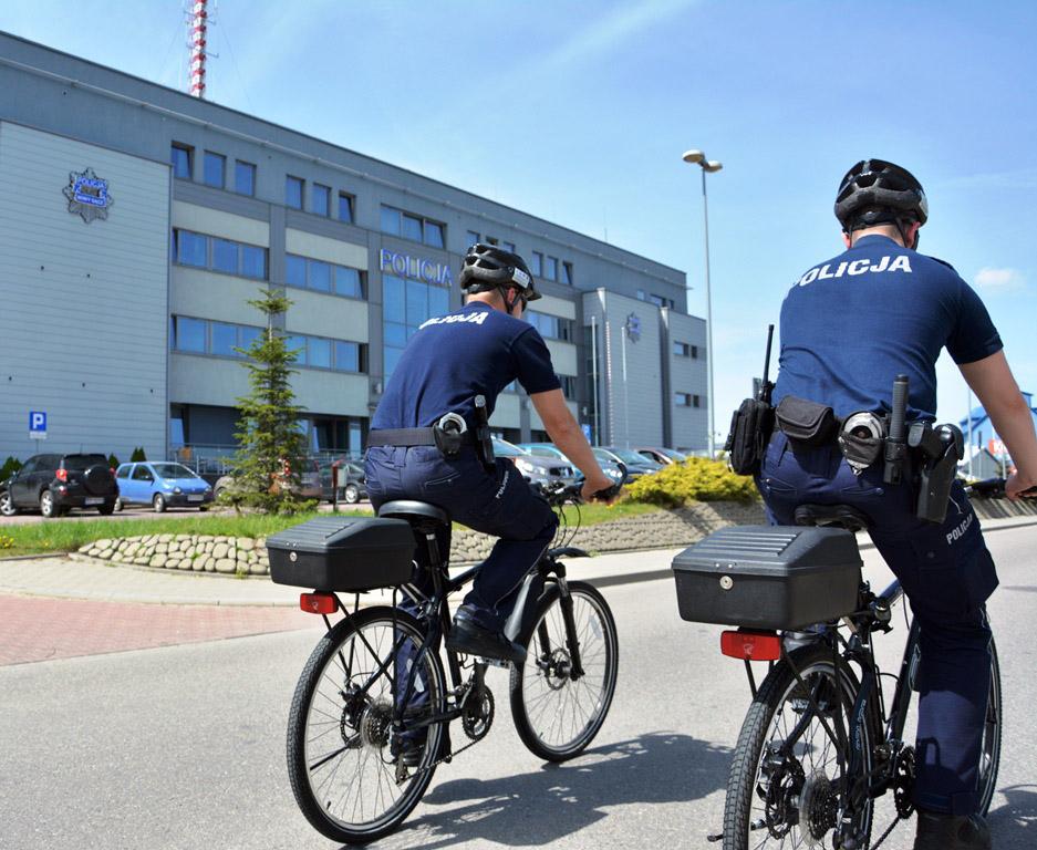 policjanci na rowerach Nowy Sącz