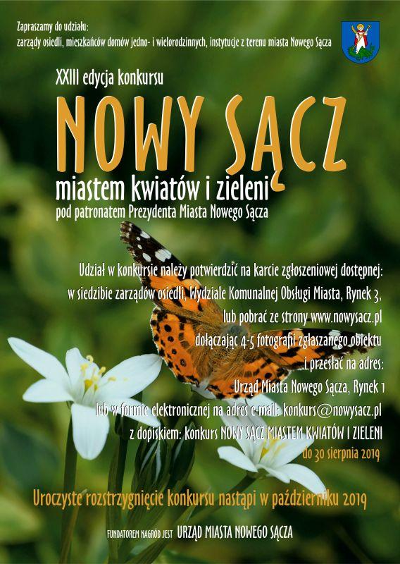 23 konkurs miastem kwiatów i zieleni Nowy Sącz