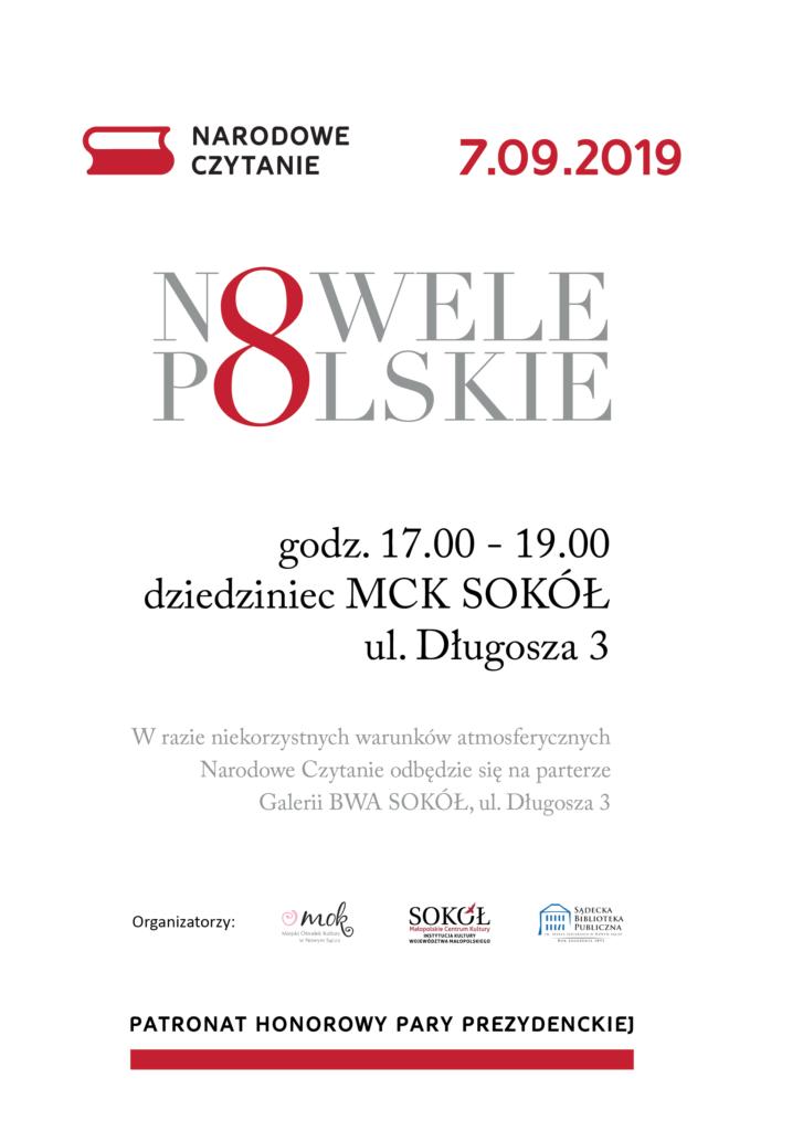 Narodowe Czytanie - Nowele polskie Nowy Sącz
