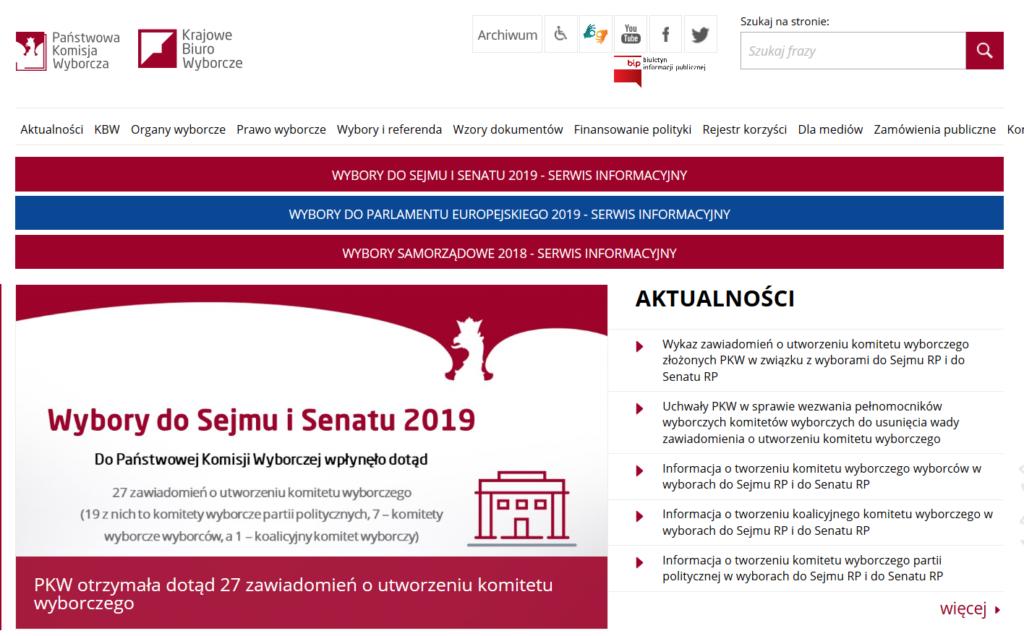 Kalendarz wyborczy wybory 2019