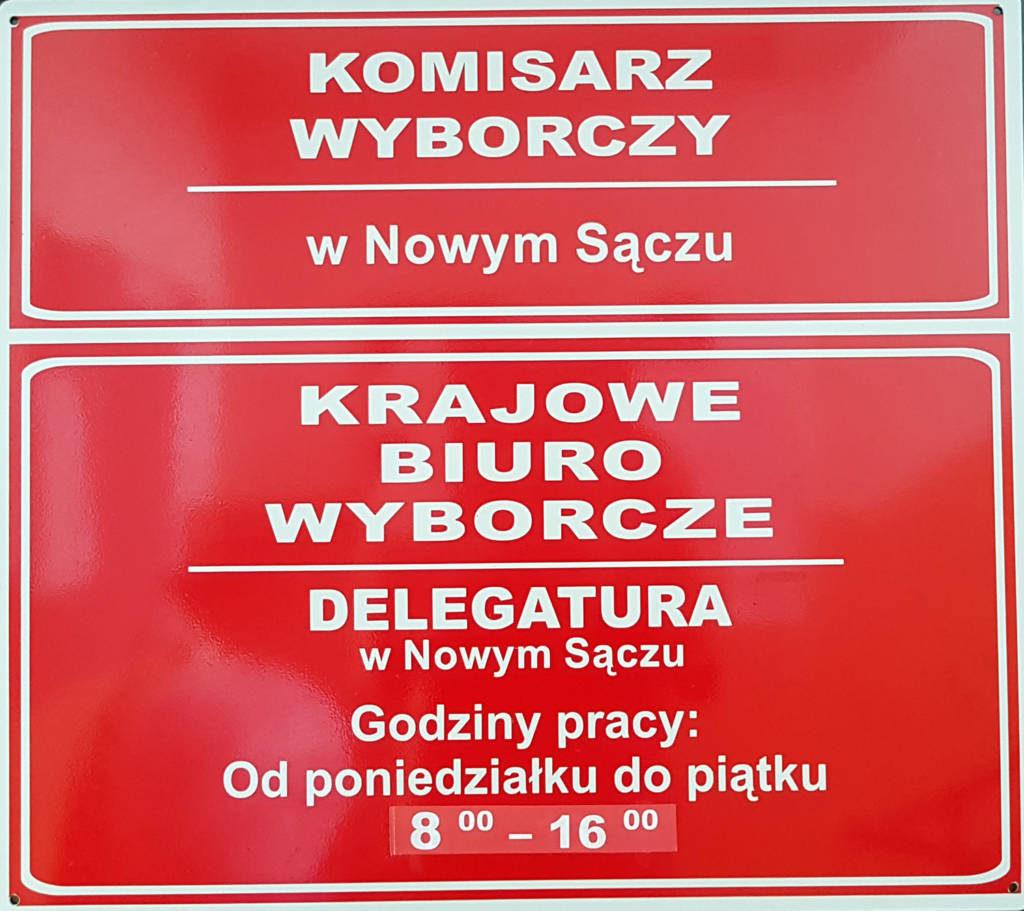wybory 2019 w okręgu nowosądeckim