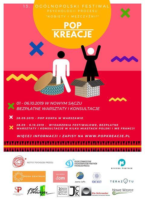 Ogólnopolski Festiwal Psychologii Procesu Pop Kreacje Nowy Sącz