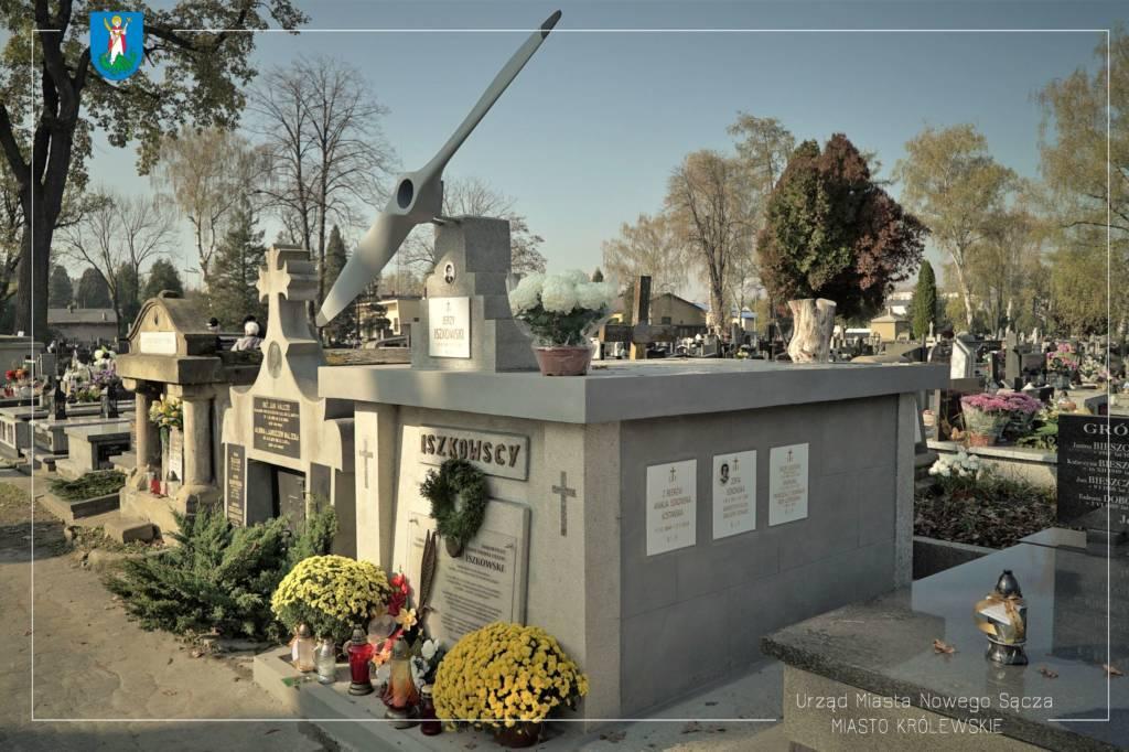major Iszkowski grób w Nowym Sączu