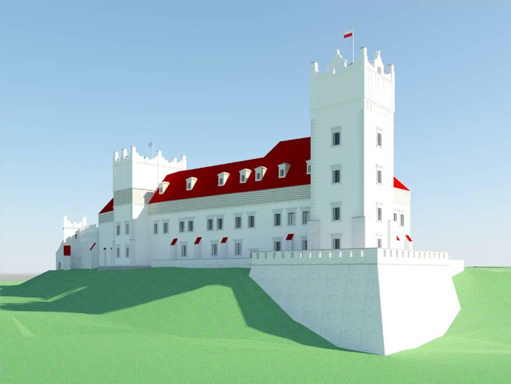 zamek królewski w Nowym Sączu wizualizacja