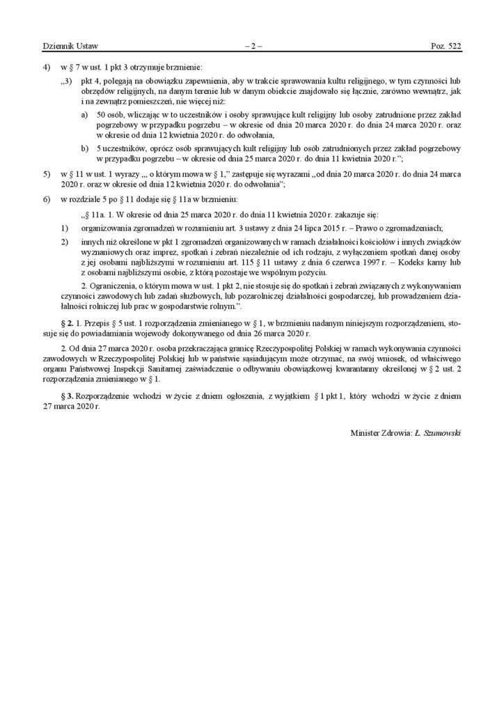 Zmiany w rozporządzeniu w sprawie ogłoszenia na obszarze ...